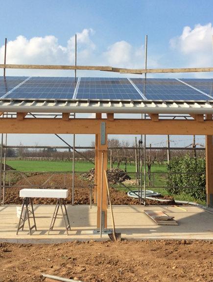 impianto fotovoltaico su pergola | La2R Elettroimpianti